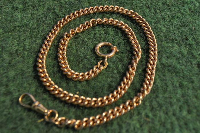 Watch chain made of 750 gold, 43cm long and 71.4g heavy