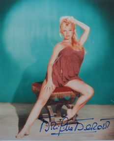 Brigitte Bardot French Actress and Sex Symbol Signed/ Autographed Photo with Certificate of Authenticity