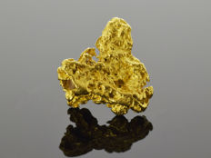 Gold Nugget Natural - 16.5 x 16.2 x 6.2 mm - 17.93 ct