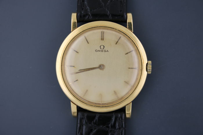 OMEGA 18 KT (0.750) GOLD DE VILLE CHRONOMETER HAND-WOUND MEN'S WATCH