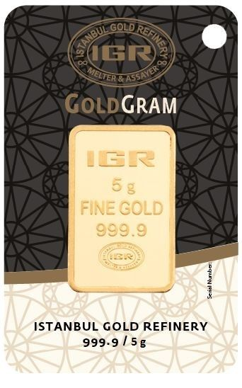 5 gramos - Oro .999 (24 quilates) - IGR - Sello + certificado