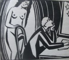 "Masereel; Charles-Louis Philippe - ""Die gute Madeleine"" including 9 woodcuts by Masereel - 1922"