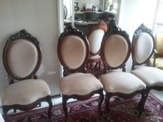 Four medallion chairs, the Netherlands, circa 1880
