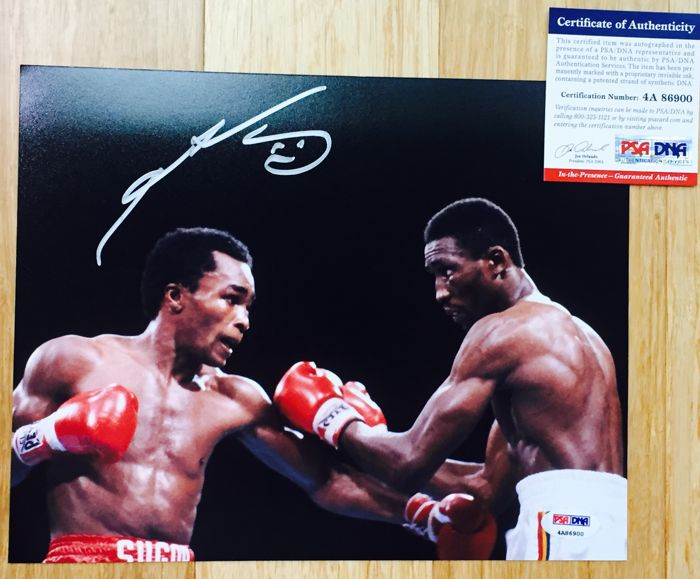 Sugar Ray /  Original Signed Photo ( 20x25cm ) - with Certificate of Authenticity PSA/DNA