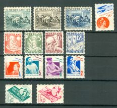 Netherlands 1930/1931 – Selection – NVPH 229/235, 238/243 and LP9