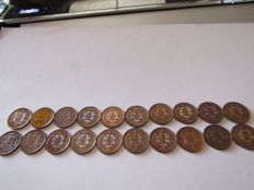 Portuguese Republic -- Large Lot of 20 coins (1 cetavo 1917(10) & (1 centavo 1918 (10)