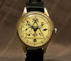 Molnija - marriage wristwatch - masonic - men's - 1970s.