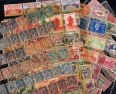 Guadeloupe 1894/1940 – large Collection of stamps on 7 pages ( 259 stamps) including Tax and Airmail.