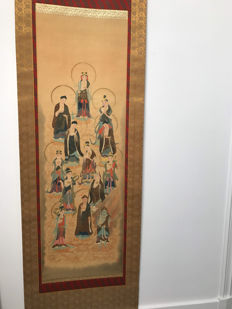 Scroll with paintings of Buddhas - China - First half of the 20th century