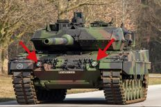 Tank Leopard II 2 x Headlights and 3 x measuring instruments (clocks)