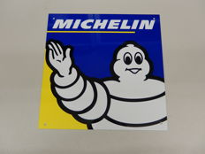 Michelin - Bibendum - Original Aluminium Garage Sign - Size 30 cm x 30 cm approx
