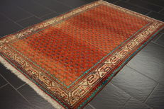 Magnificent hand-knotted Persian carpet, Sarouk Mir, 125 x 200 cm, made in Iran, great highland wool, very good condition