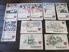 Culinary; Lot of 46 old advertising blotters - 1960