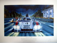 """Ma Plus Grande Course"" Ickx/Barth/Haywood - Martini-Porsche 936 #4 - 24h Le Mans 1977 (Winners) - Fine Art Print"