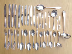 36 piece classic silver plated cutlery, Nieuwpoort point-filet, 20th century