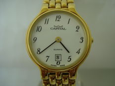 Capital Swiss Gold women's watch -- early 2000s -- NOS