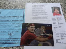 An original signature from Roger Federer