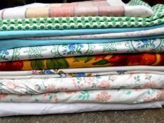 Lot of home linens + 300 cm of linen cloth