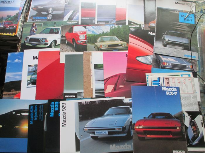 Car brochures (Mazda, including RX7/818/929/MX3/MX6, 33x, 1976-1995)