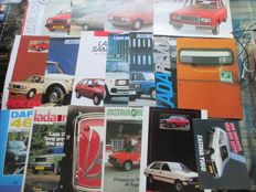 Car brochures (eastern European brands, 1975-1987, 20 brochures)