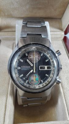 Citizen Chronograph Automatic 8110 23 Jewels -- Men's Watch -- 1970s