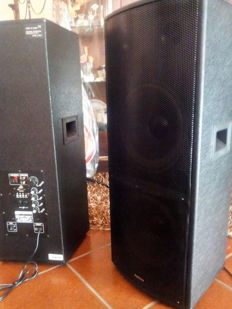 Pair of amplified speakers 1000W double woofer 26 cm - 1000W - Plug & Sound