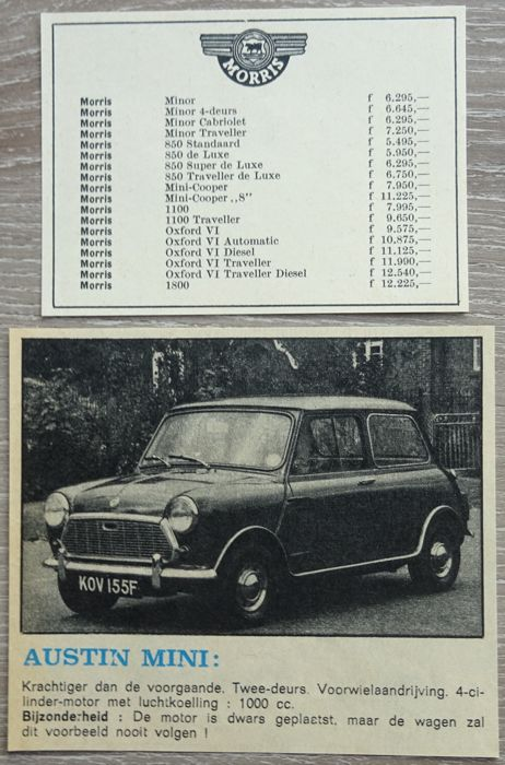Austin Bmc Mini Morris Lot Of 33 Advertisements From 1960 To