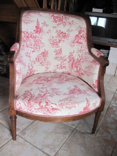 Old wing chair, Louis XVI style, France, around 1900