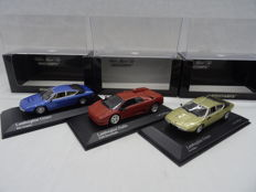 Minichamps - Scale 1/43 - Lot with 3 Lamborghini models: Urraco 1974, Diablo 1994 & Urraco 1974