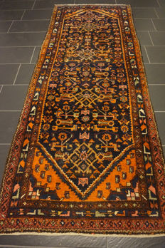 Old high-quality -Persian carpet- -Hamadan Malayer- -made in Iran- -110X280 cm-