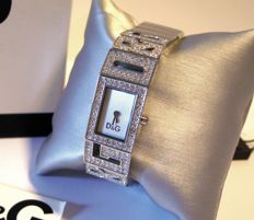 DOLCE & GABBANA D&G ladies' watch with Swarovski stones, new