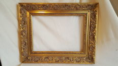 Baroque gold-coloured picture frame (wood)