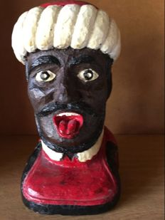 Solid wood Gaper, hand painted and comes with a book detailing the history of the Gaper