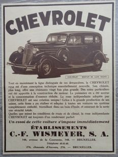 Chevrolet - Lot of 34 Advertisements from 1934 to 1971