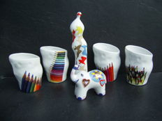 Corry Ammerlaan van Niekerk - Design Sculpture and Elephant and 4 Mugs