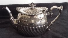 Phillip Ashberry and Sons Sheffield Antique Rare Silver Pllated Tea Pot made in england.