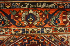 Original beautiful old hand-knotted Persian BAKHTIAR field carpet, Bakhtiari, natural dyes, signed, made in Iran, 215 x 350 cm
