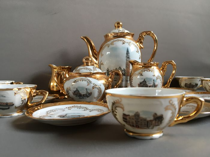 Vintage Bavaria gold plated coffee set - Ca. 1960 - \u0027Venezia\u0027 : bavaria gold plated tea set - pezcame.com