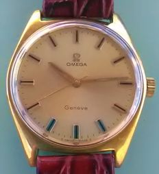 Omega - Genève Placcato Oro 20 Microns 1968 Dial Champagne - 27013523 - Hombre - 1960 - 1969