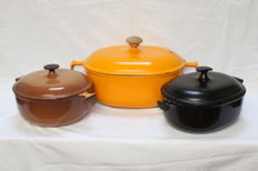 cast iron Le CREUST pans - 100%riginal - France - 12.7Kg