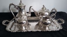Oneida large vintage traditionaltray&epns tea coffee set silver plated made in Canada