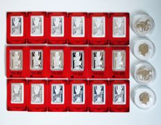 A collection of Silver Bullion - Perth Mint - Horses (22)