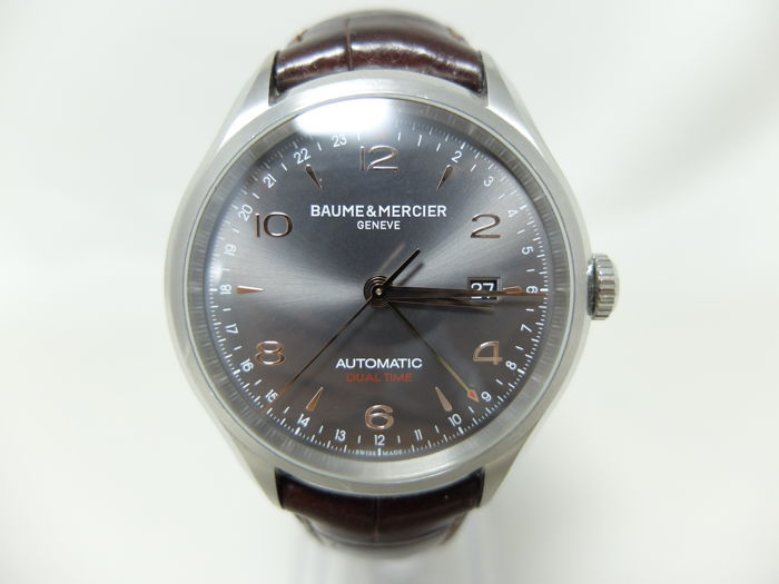 a1f54e383fb Baume   Mercier - men s steel wristwatch - Clifton GMT Automatic M0A10111