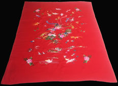 Chinese Silk Hand Embroidery Unframed Textile - China - late 20th century