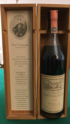 Dartigalongue - vintage 1962 bottled 1999 - bottle no. 12456
