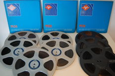 8x AGFA reels with tape 26 cm