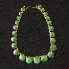 Malachite Necklace, African.