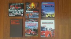 Lot of 6 Fire Truck books