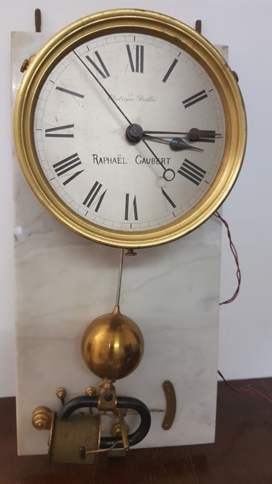 Rare Brillié electric master clock 1920 Raphael Gaubert