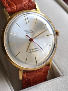 "Poljot de Luxe ""ultra-slim"" Men's watch.Export series limited edition.Vintage Watch Soviet USSR 1965-1970's.AU 20"